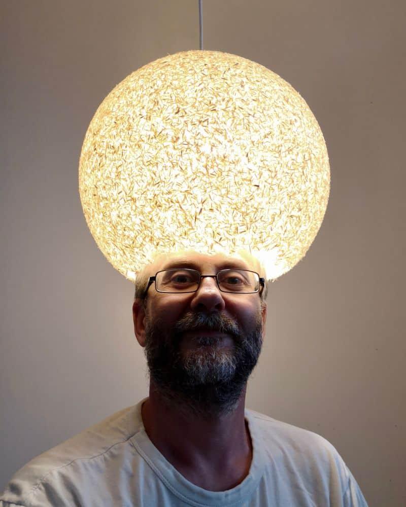 Oshan Kesa iluminat interior - pergalemnul material kraft
