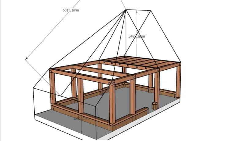 plan cabana de la Baia Sprie