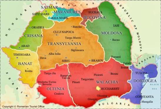 regiunile României