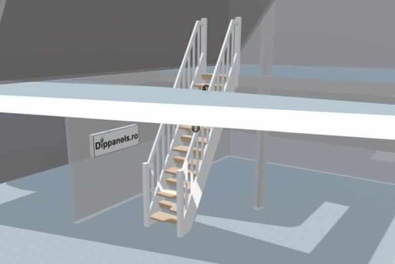 simulare scara cu trepte alternative