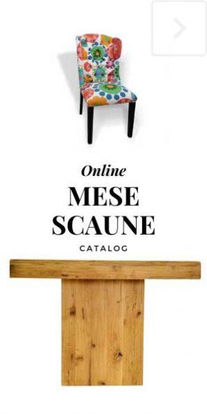 Catalog mobila lemn masiv mese scaune stejar