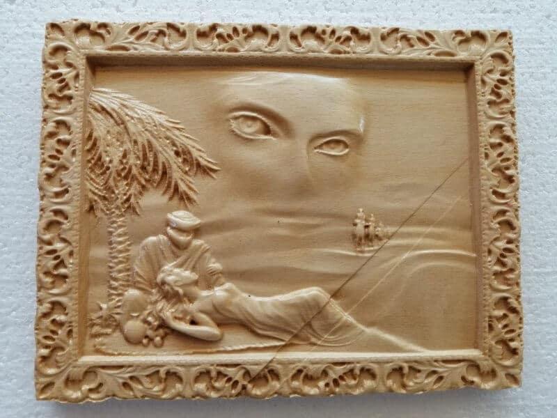 gravură în lemn 3D Angel Toy Land