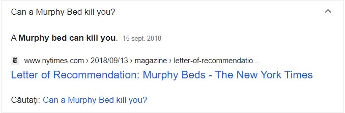 întrebare Patul lui Murphy