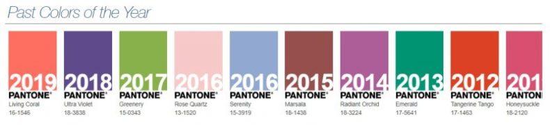 Culorile anterioare Pantone