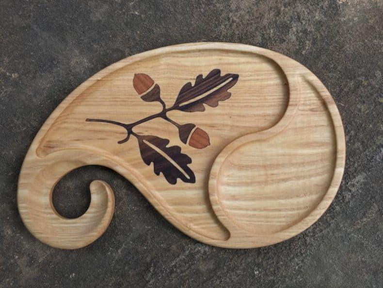 platou din lemn pentru vin și aperitiv