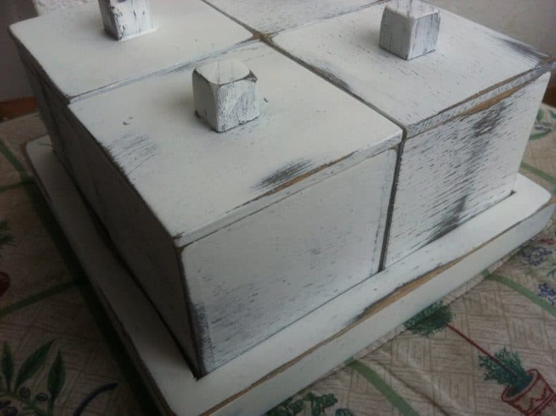 cutii din stejar antichizate