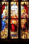 Vitraliu Sfantul Iosif cu unelte de dulgherie - Bisaigue