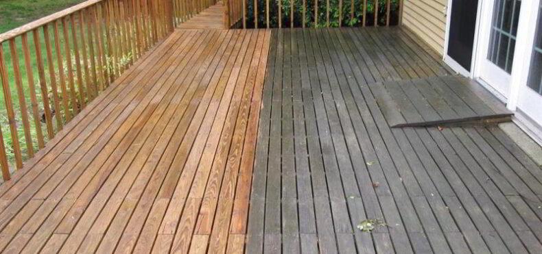 lemn reconditionat - ulei cu dioxid de titan