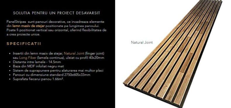 Natural Joints Dippanels riflaje din lemn