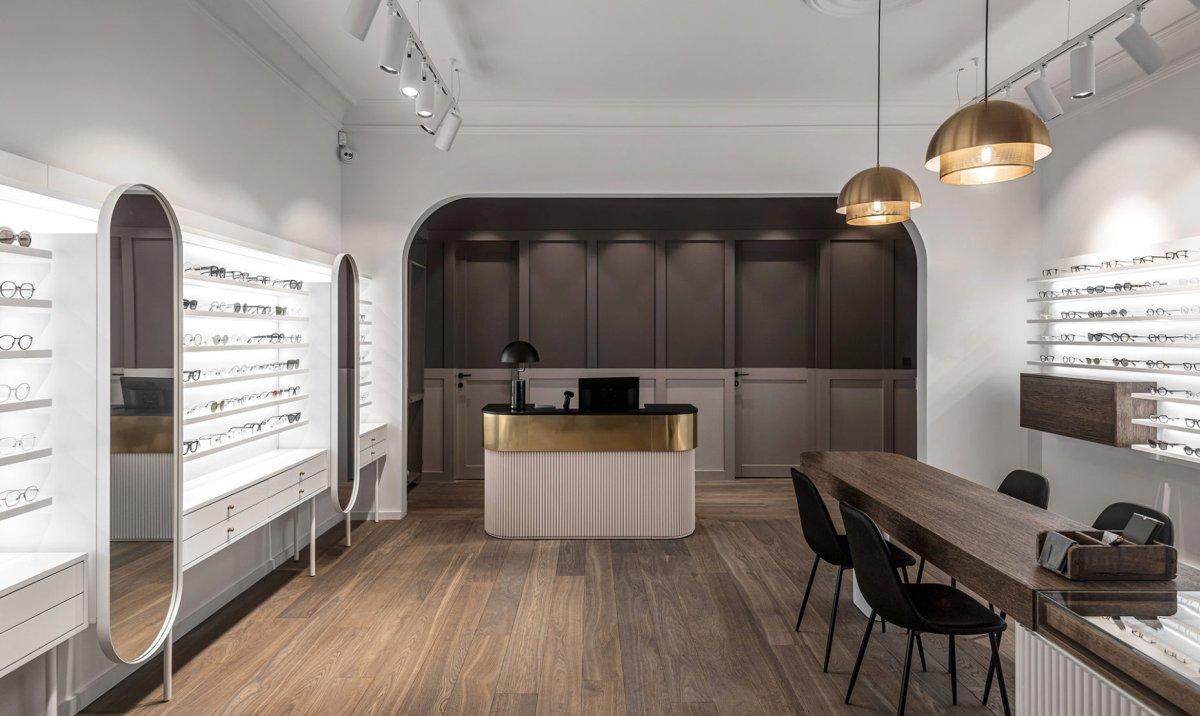 magazin de ochelari din Kaunas Lituania - design INT2 Architecture