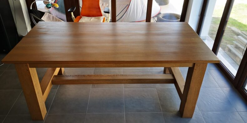 mesele din stejar - masa Rustic